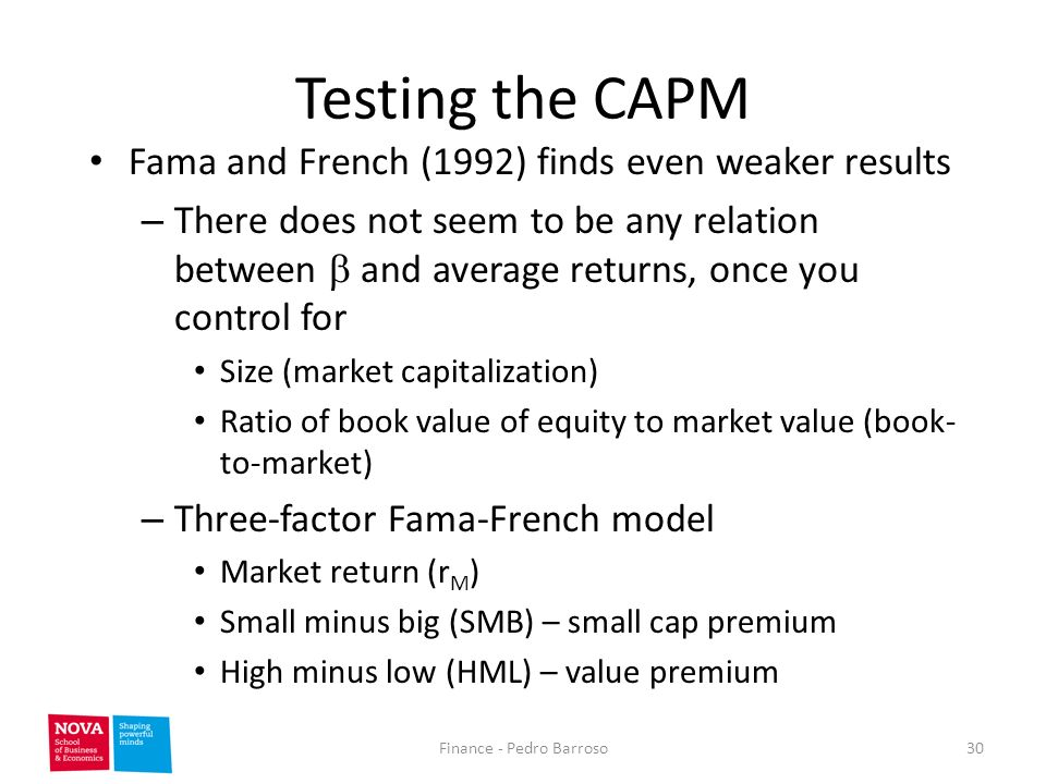 fama and french corporate finance C) uses the fama-french model to estimate the return on equity for a benchmark  consulting, a specialist corporate finance consultancy.