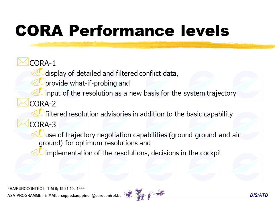 CORA Performance levels