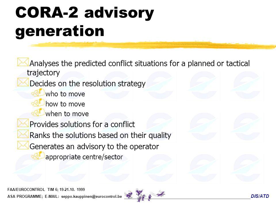 CORA-2 advisory generation
