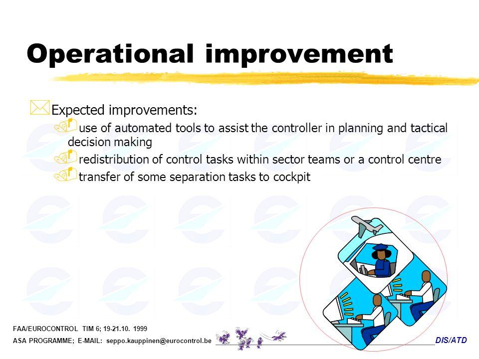 Operational improvement