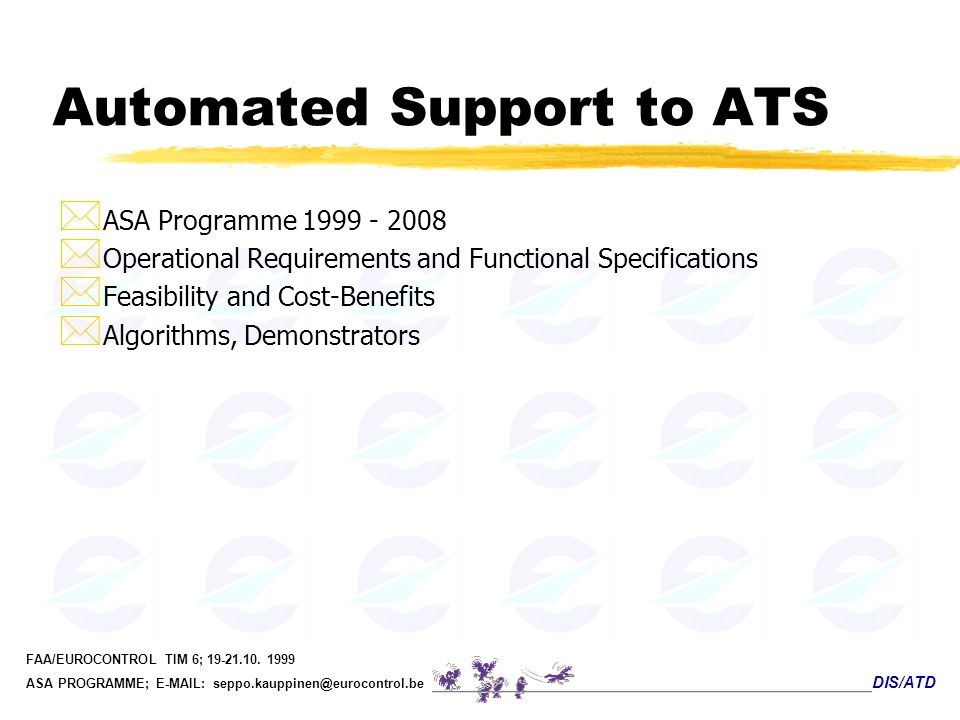 Automated Support to ATS