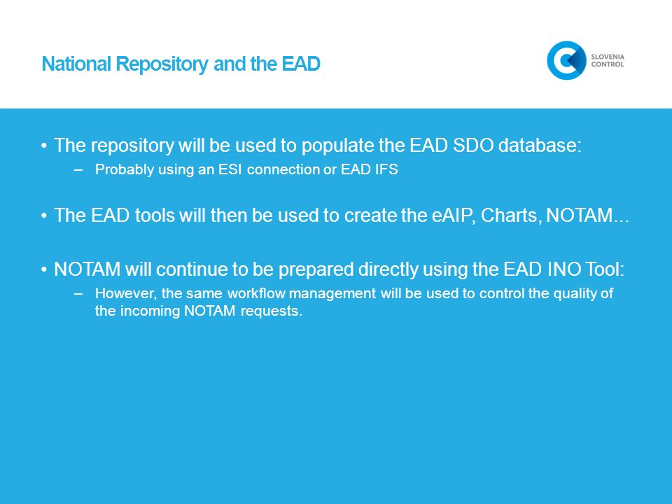 National Repository and the EAD