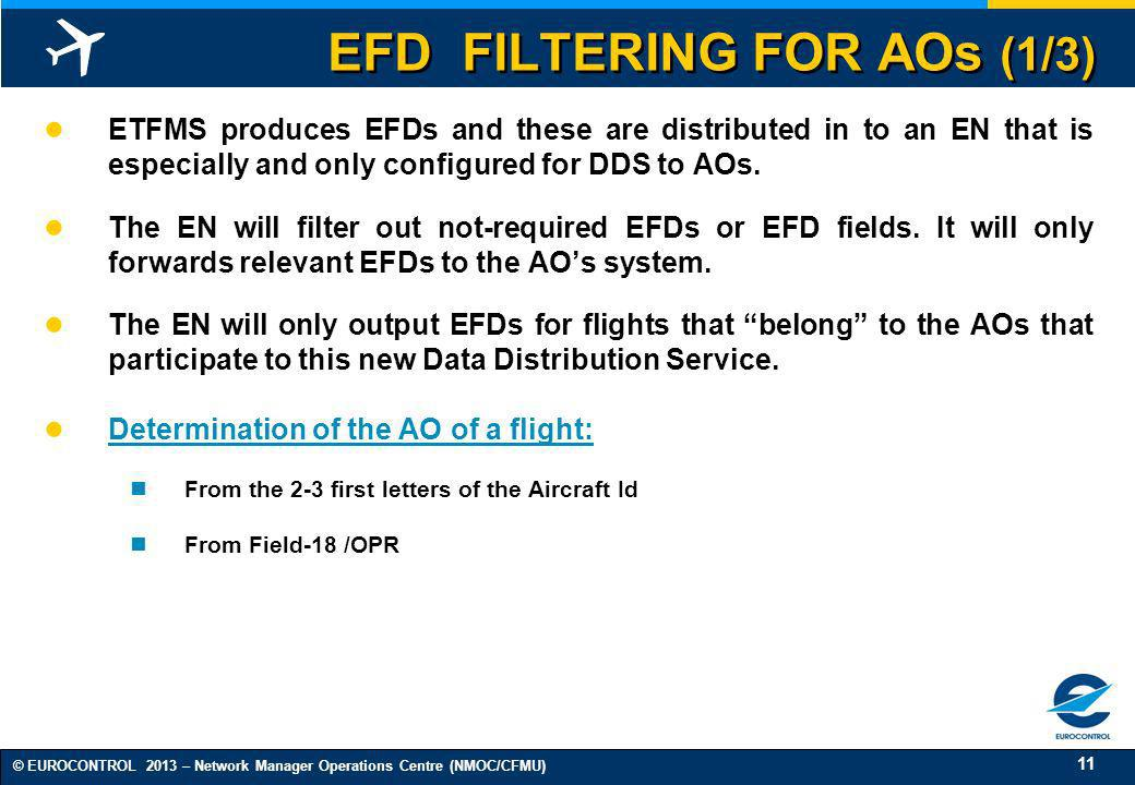EFD FILTERING FOR AOs (1/3)