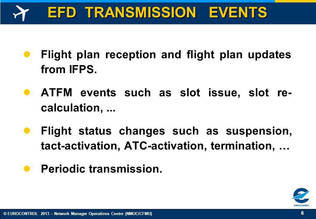 EFD TRANSMISSION EVENTS