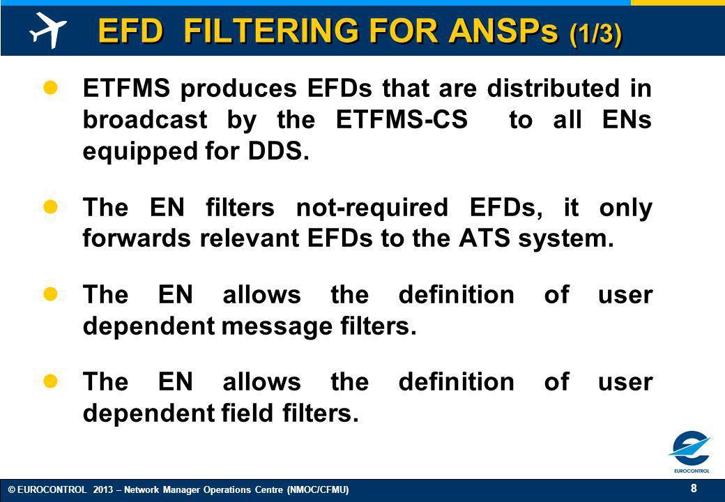 EFD FILTERING FOR ANSPs (1/3)