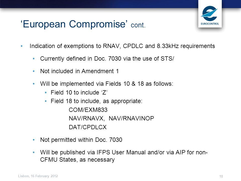 'European Compromise' cont.