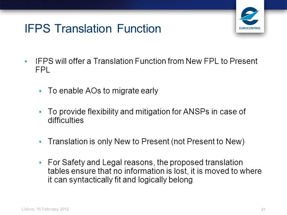 IFPS Translation Function