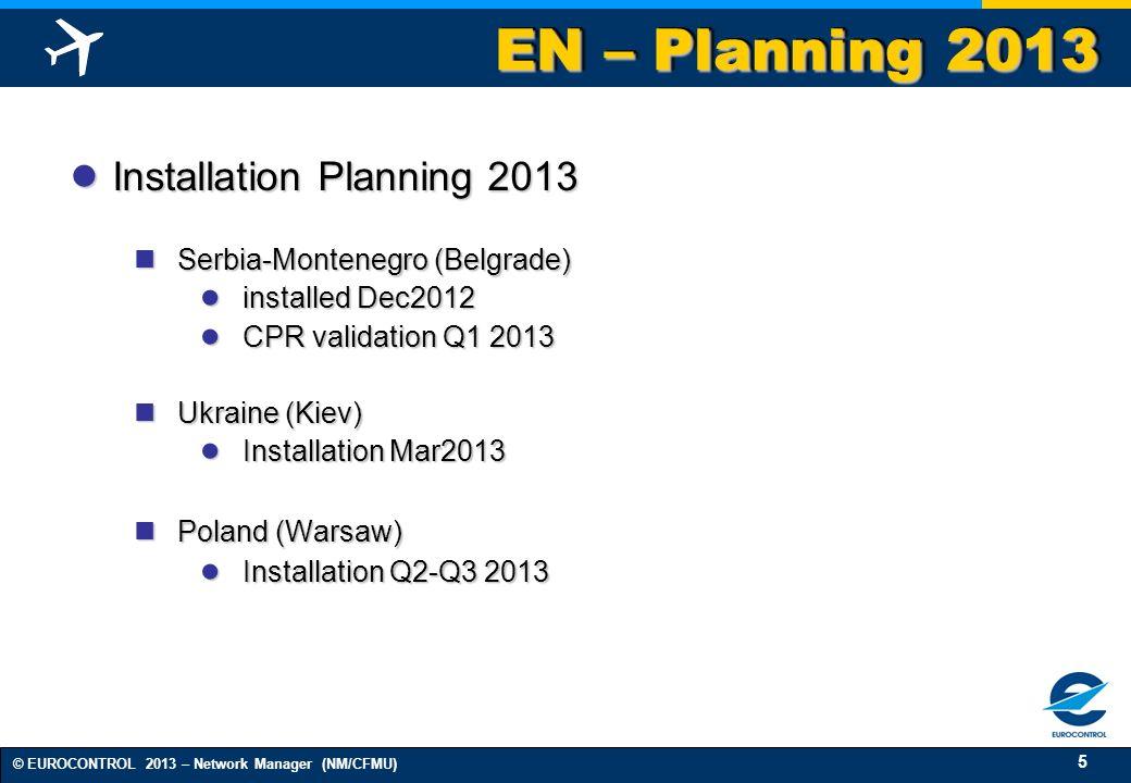 EN – Planning 2013 Installation Planning 2013