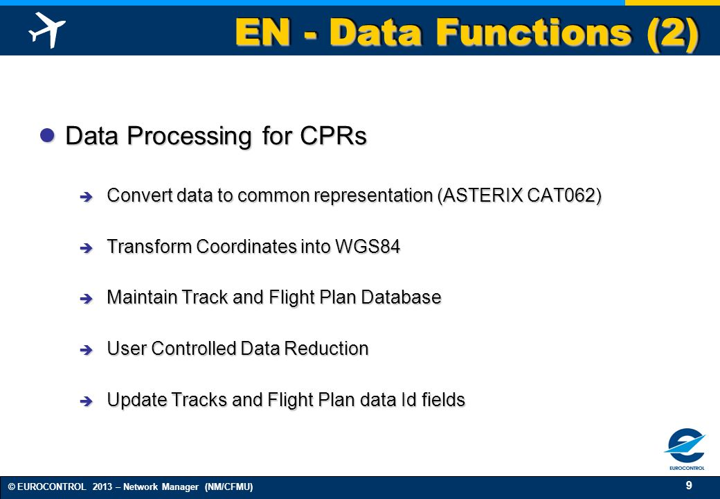 EN - Data Functions (2) Data Processing for CPRs