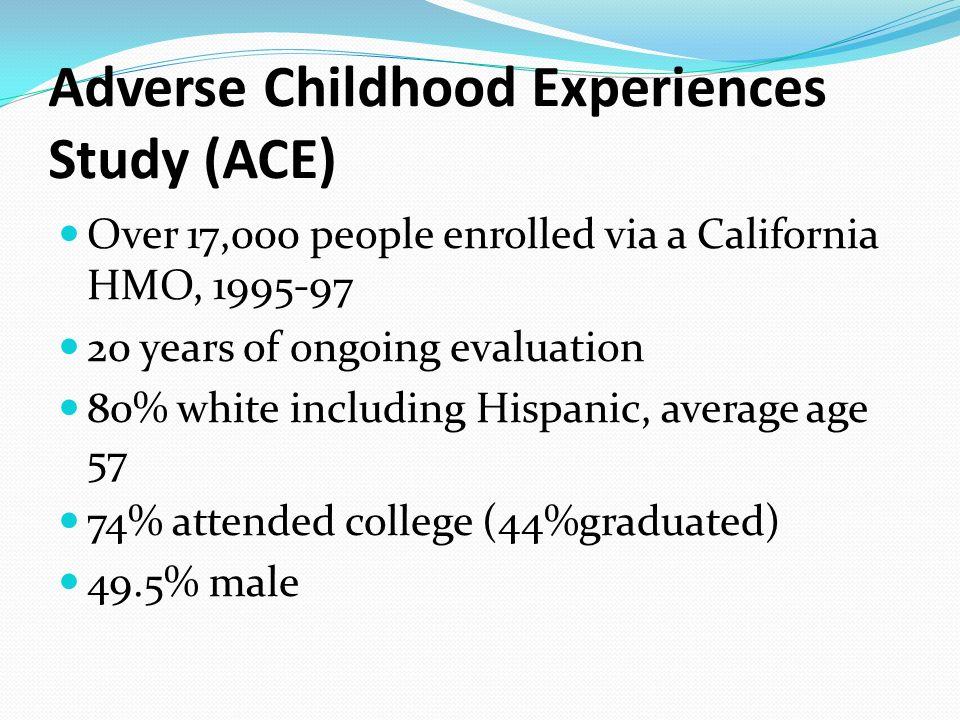adverse childhood experiences study pdf