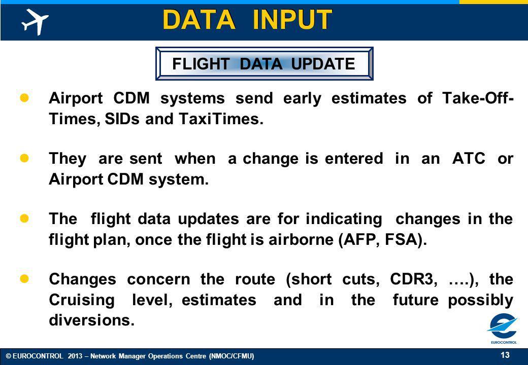 DATA INPUT FLIGHT DATA UPDATE