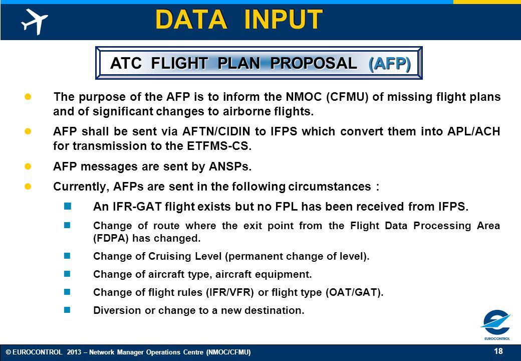 ATC FLIGHT PLAN PROPOSAL (AFP)