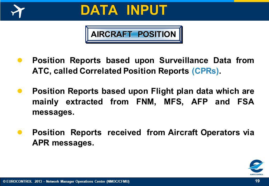 DATA INPUT AIRCRAFT POSITION
