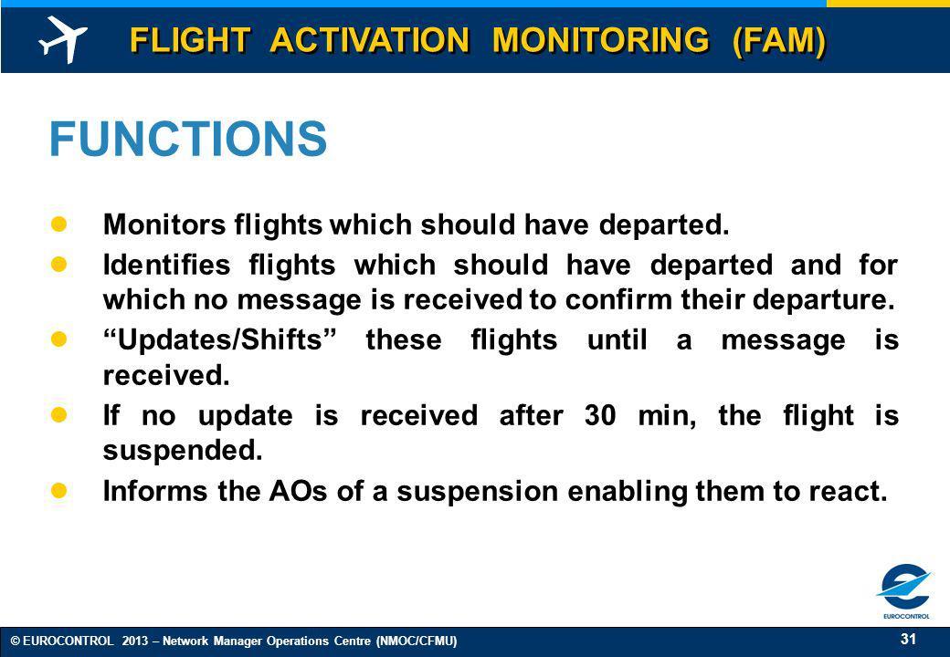 FUNCTIONS FLIGHT ACTIVATION MONITORING (FAM)