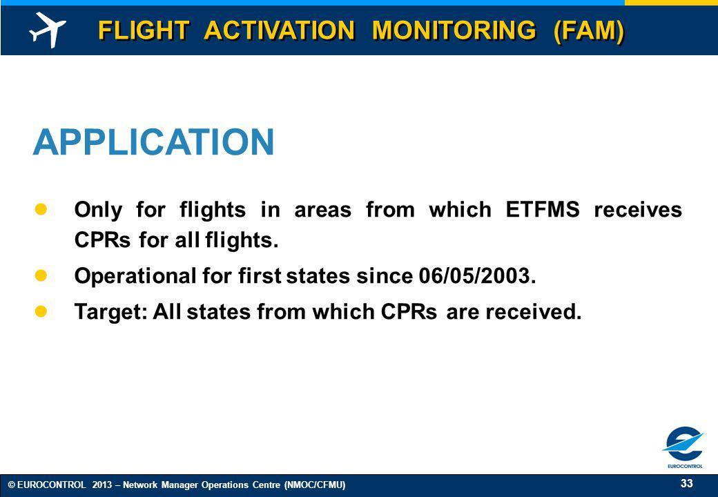 APPLICATION FLIGHT ACTIVATION MONITORING (FAM)