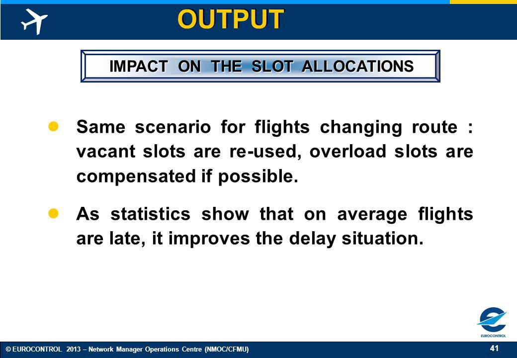 IMPACT ON THE SLOT ALLOCATIONS