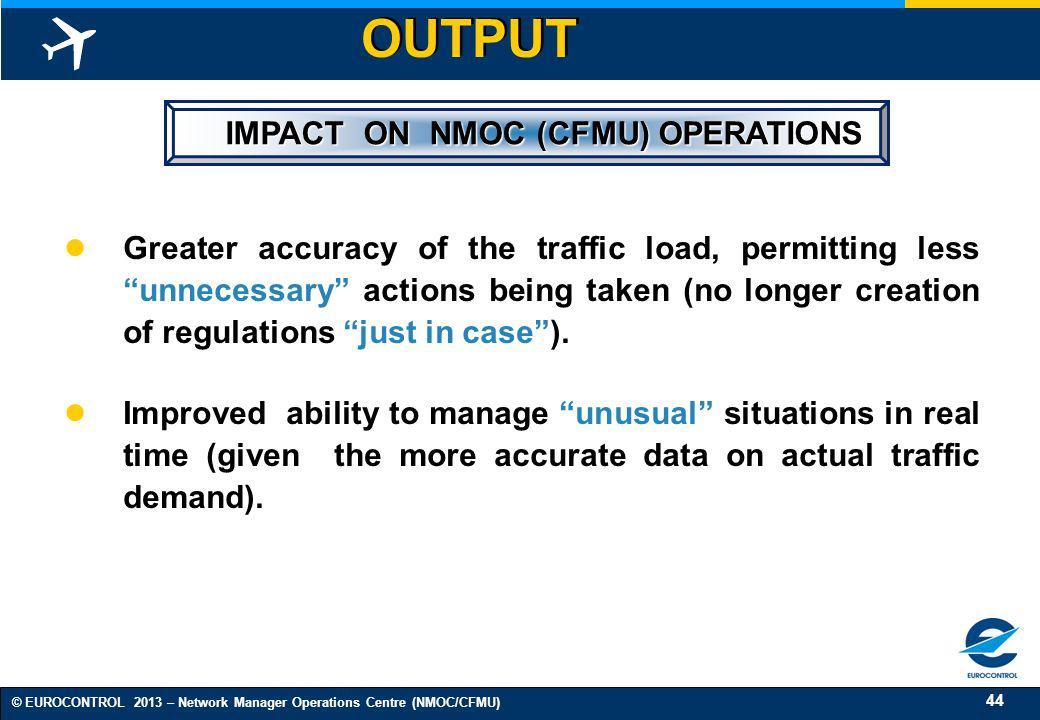 IMPACT ON NMOC (CFMU) OPERATIONS
