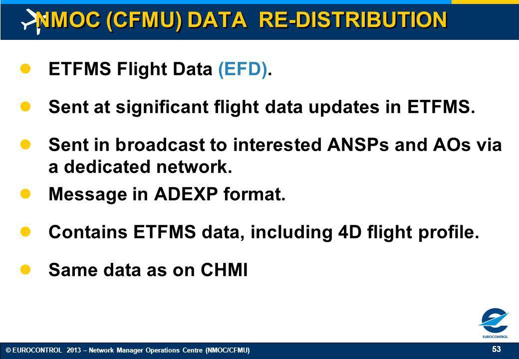 NMOC (CFMU) DATA RE-DISTRIBUTION
