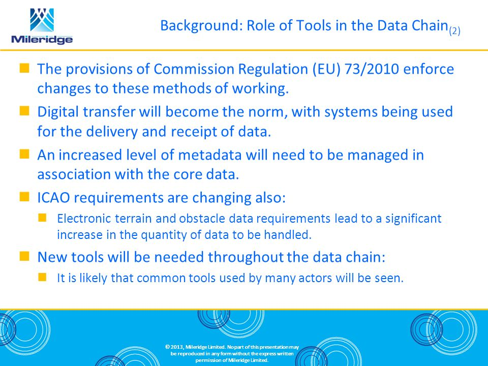 Background: Role of Tools in the Data Chain(2)