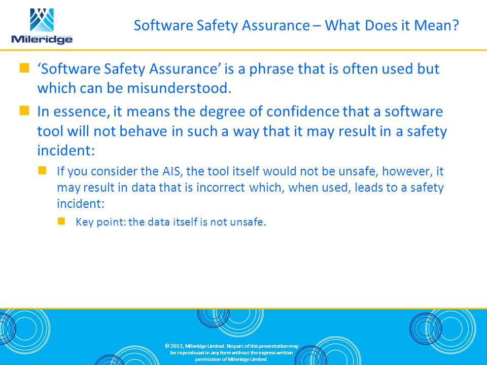 Software Safety Assurance – What Does it Mean