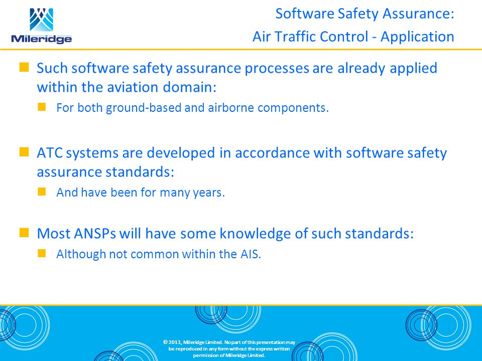 Software Safety Assurance: Air Traffic Control - Application
