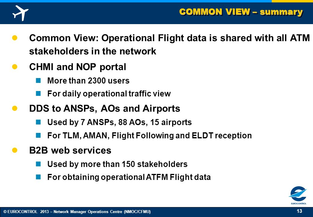 DDS to ANSPs, AOs and Airports