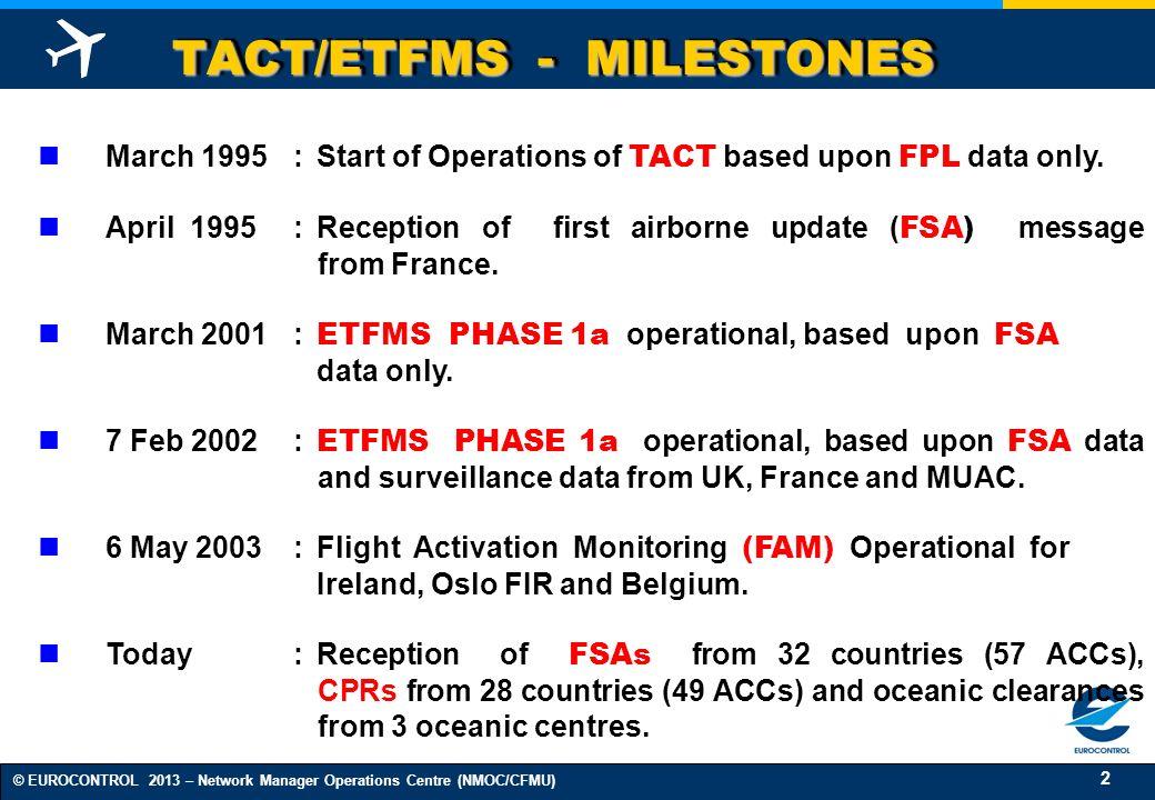 TACT/ETFMS - MILESTONES
