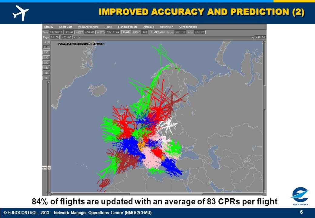 84% of flights are updated with an average of 83 CPRs per flight