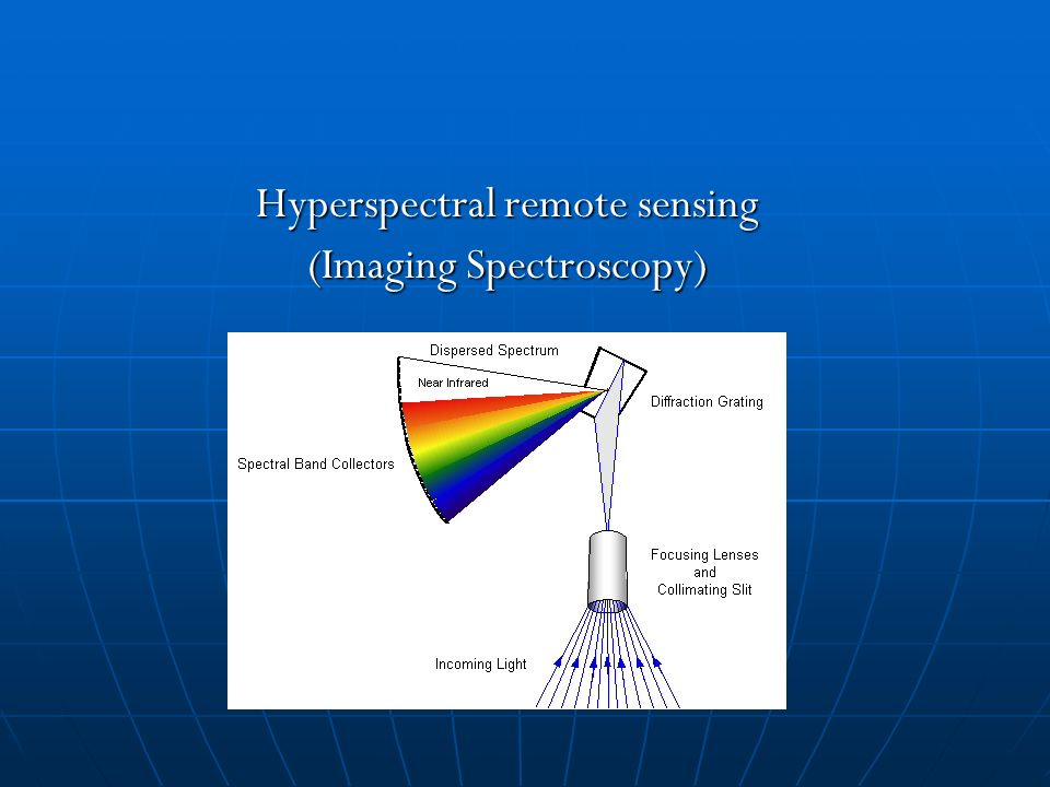 Hyperspectral Remote Sensing Imaging Spectroscopy Ppt