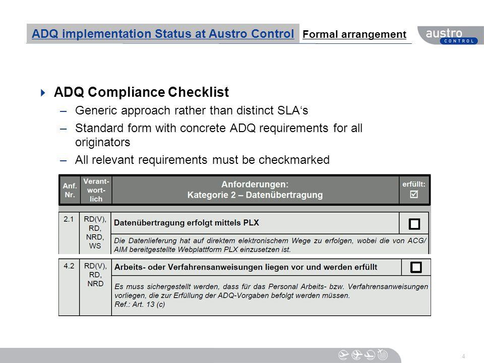 ADQ Compliance Checklist
