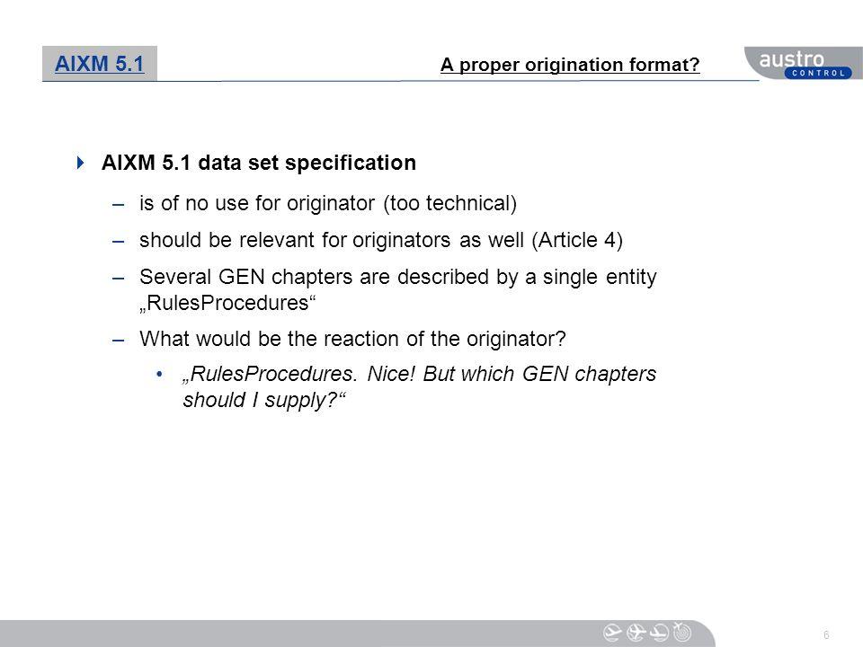 AIXM 5.1 data set specification