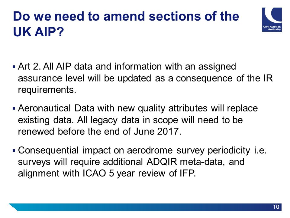 Do we need to amend sections of the UK AIP