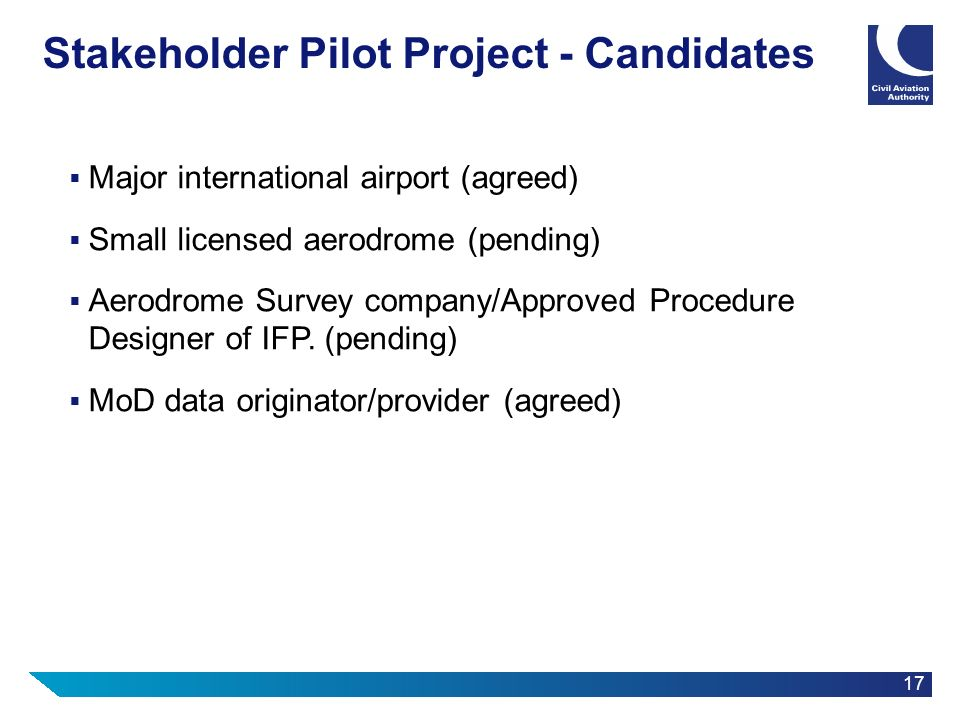 Stakeholder Pilot Project - Candidates