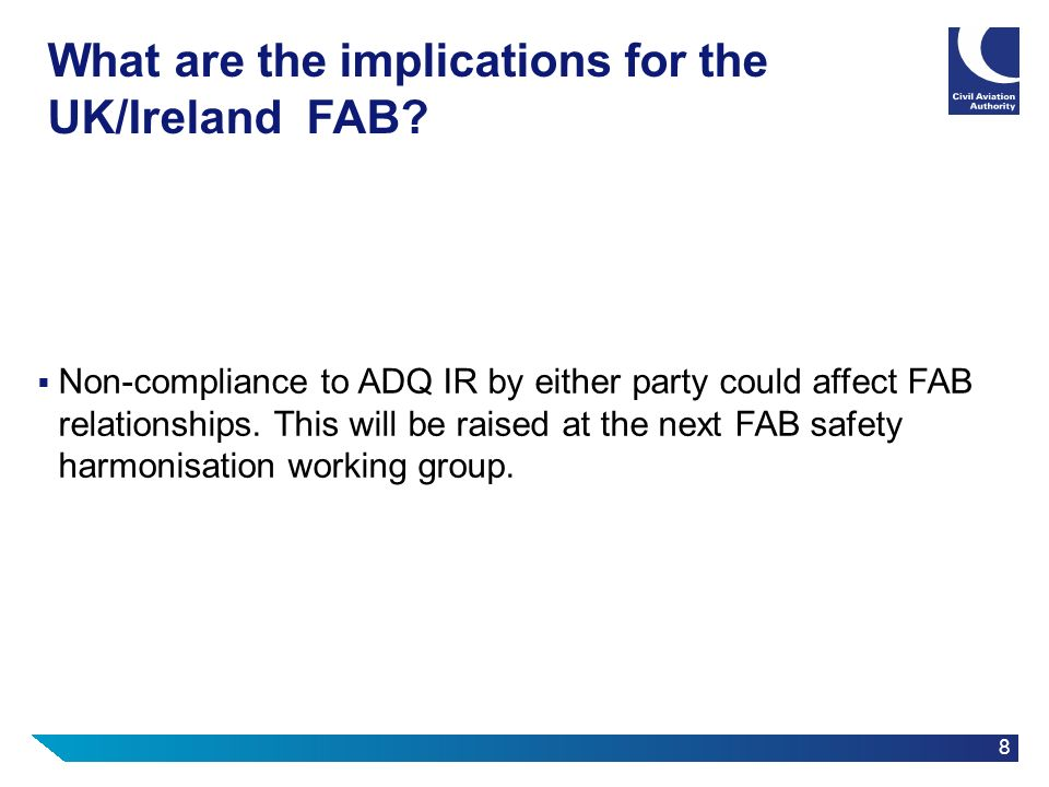 What are the implications for the UK/Ireland FAB