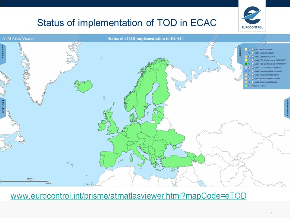 Status of implementation of TOD in ECAC