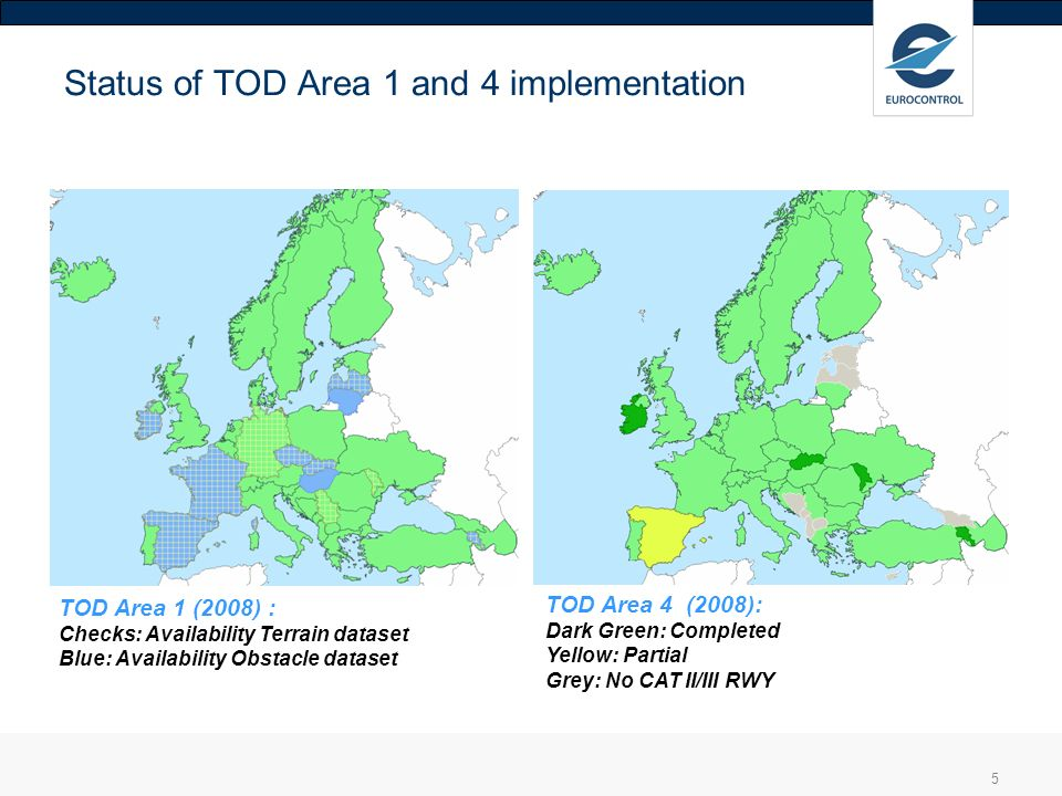 Status of TOD Area 1 and 4 implementation