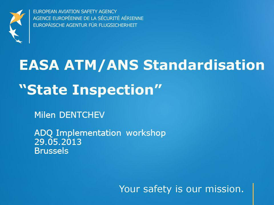 EASA ATM/ANS Standardisation State Inspection