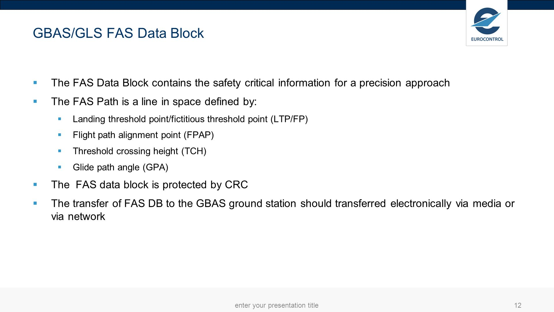 GBAS/GLS FAS Data Block