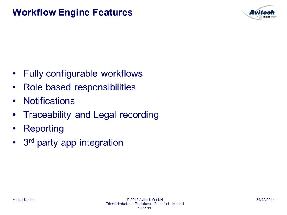 Workflow Engine Features