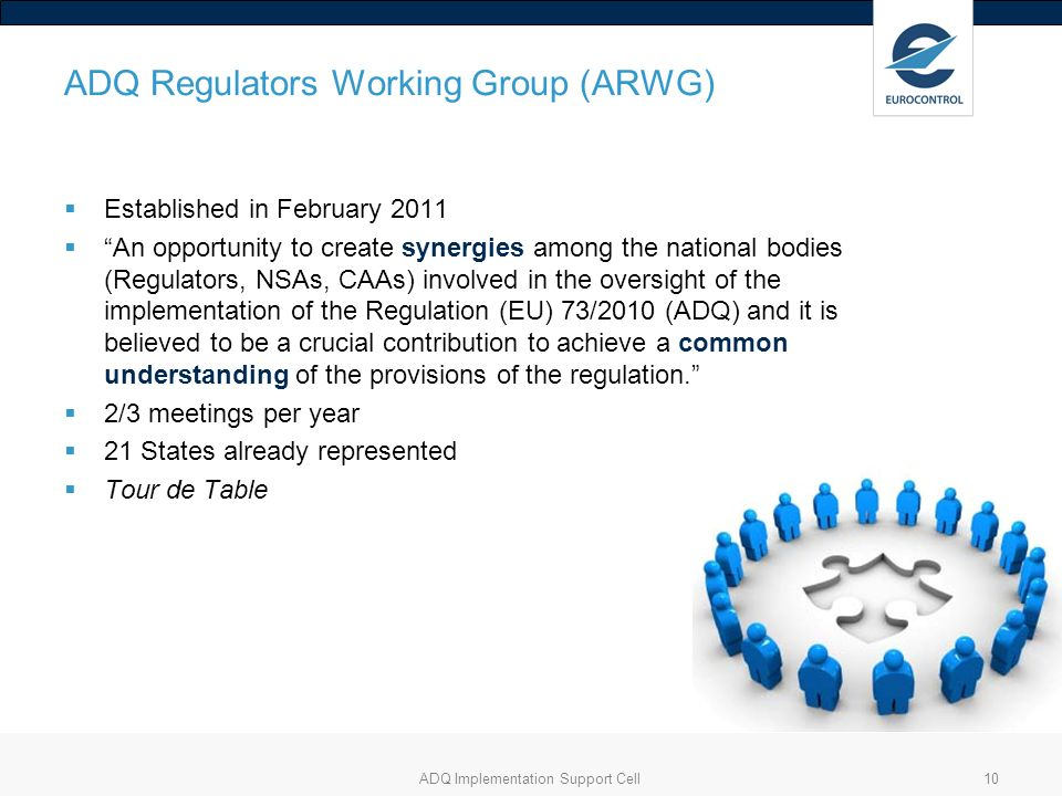 ADQ Regulators Working Group (ARWG)