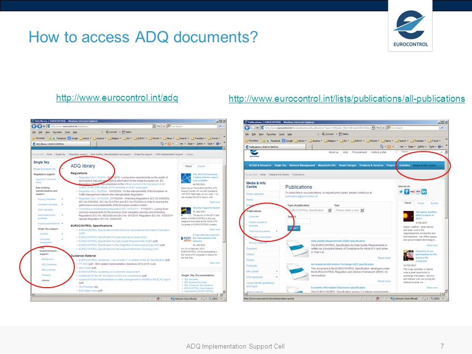 How to access ADQ documents