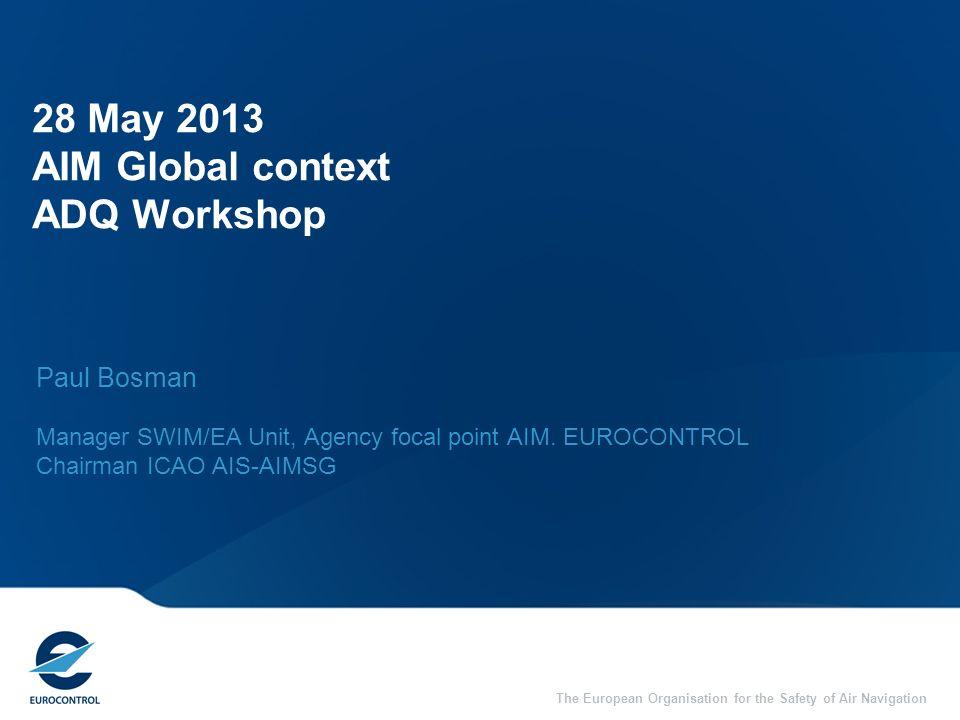 28 May 2013 AIM Global context ADQ Workshop