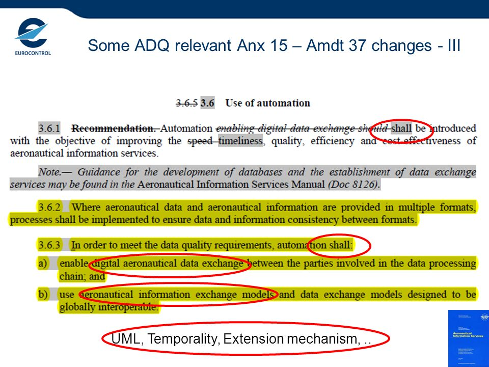 Some ADQ relevant Anx 15 – Amdt 37 changes - III