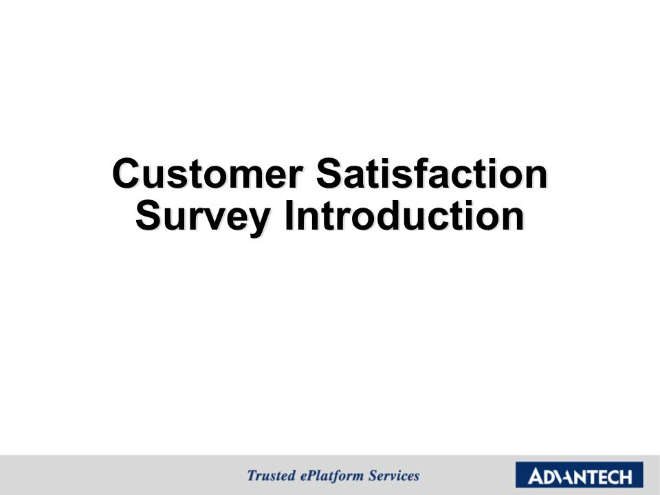 introduction of customer satisfaction Everyone talks about customer satisfaction and some see it as the holy grail of a customer-centric business but what is it really is there a simple basic definition.
