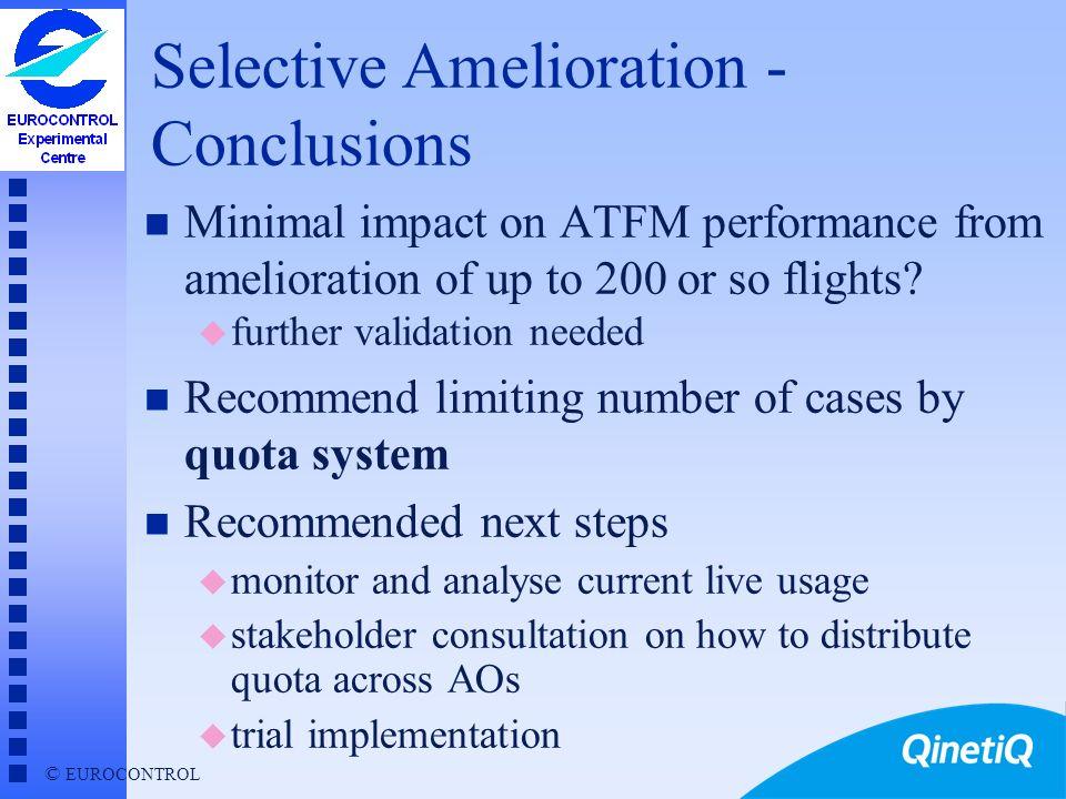 Selective Amelioration - Conclusions