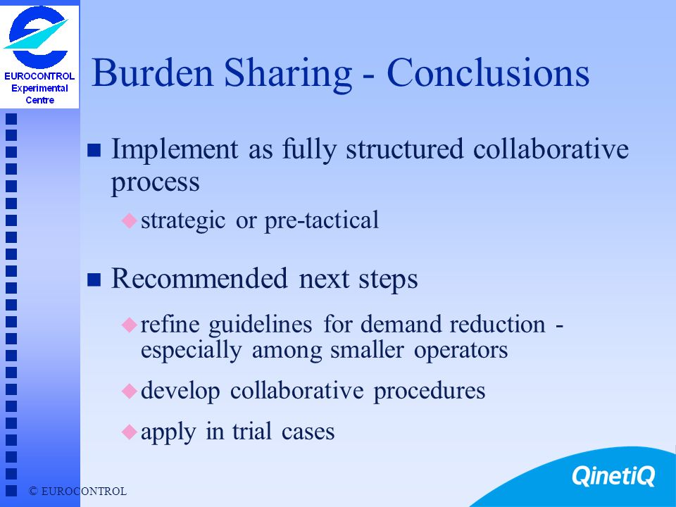 Burden Sharing - Conclusions