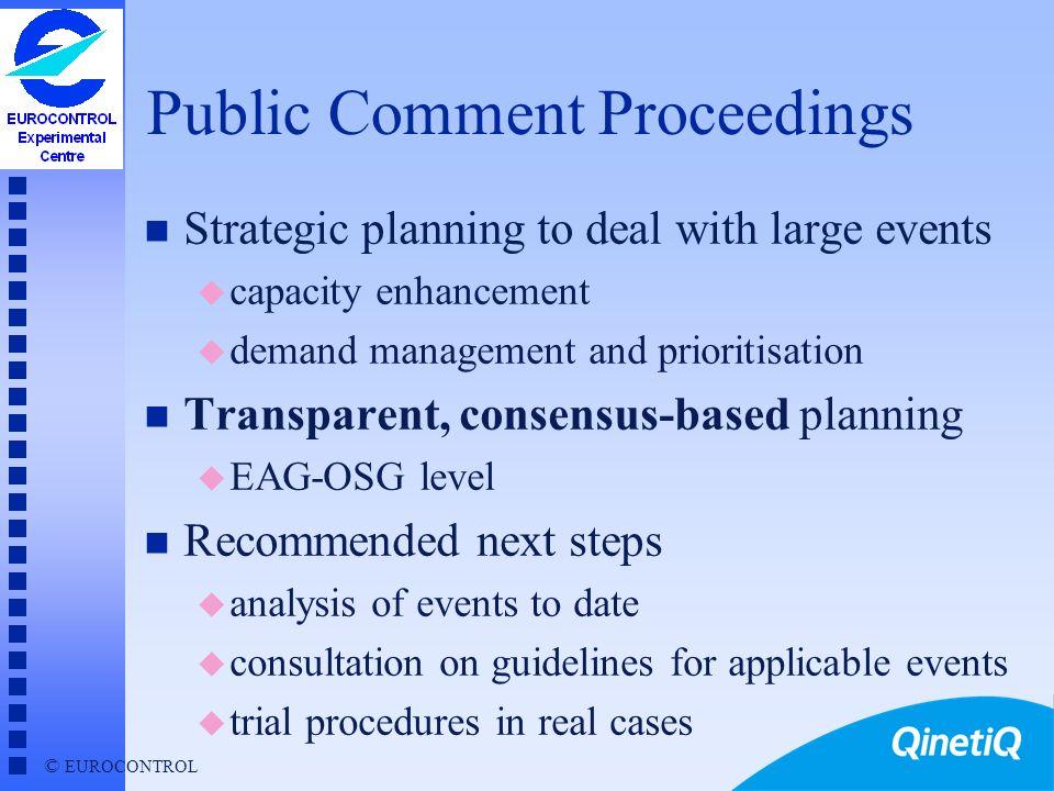 Public Comment Proceedings