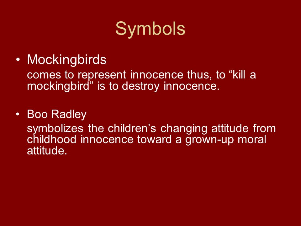 the lost of innocence in to kill a mockingbird by harper lee The mockingbird theme in to kill a mockingbird, by harper lee 1047 words | 5 pages by harper lee has a seemingly curious title to a reader who looks at it in a literal way.