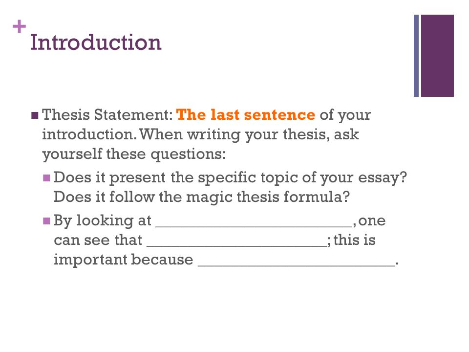 How to introduce your essay