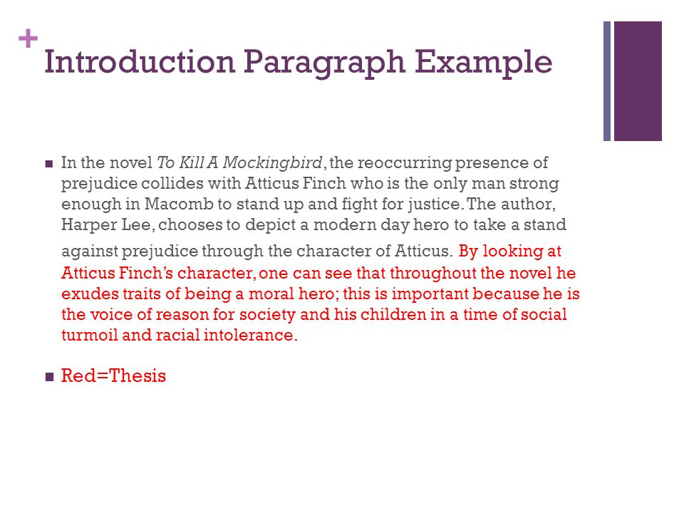 to kill a mockingbird essay ppt video online  6 introduction paragraph example in the novel to kill a mockingbird the reoccurring presence of prejudice